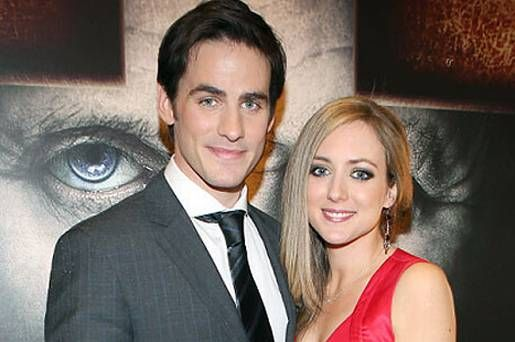 Colin O'Donoghue with his wife Helen. Aww, Captain Hook is married? :(