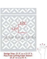 Moroccan Wall Stencil All The Angles - Royal Design Studio Stencils - www.royaldesignstudio.com
