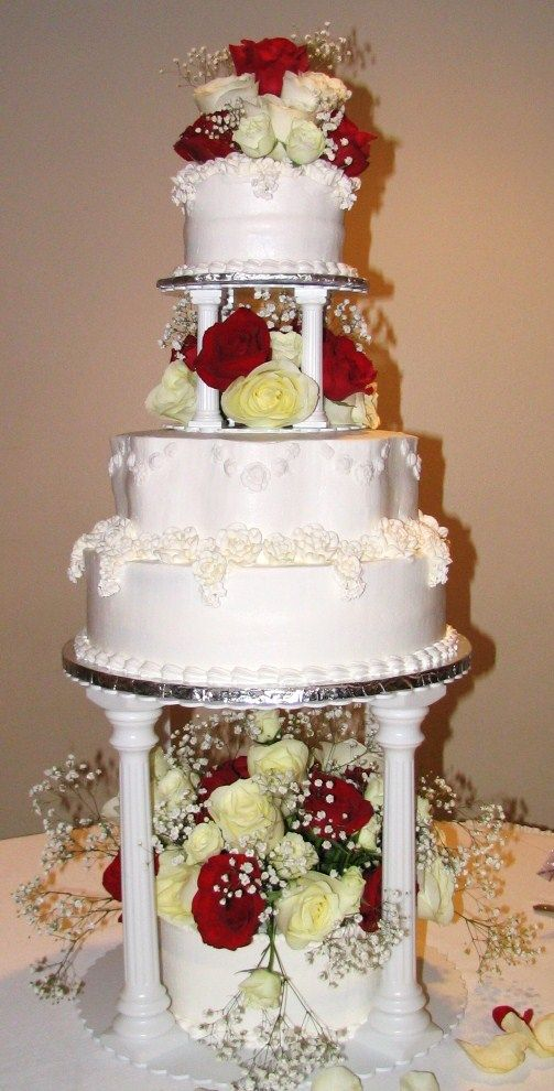 Tiered Fountain Wedding Cakes