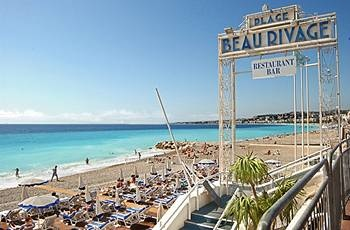 Hotel Beau Rivage Nice France, the private beach is waiting for you!