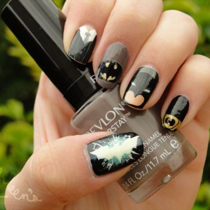 The 25 best batman nails ideas on pinterest batman nail designs the 25 best batman nails ideas on pinterest batman nail designs superhero nails and diy nails prinsesfo Image collections