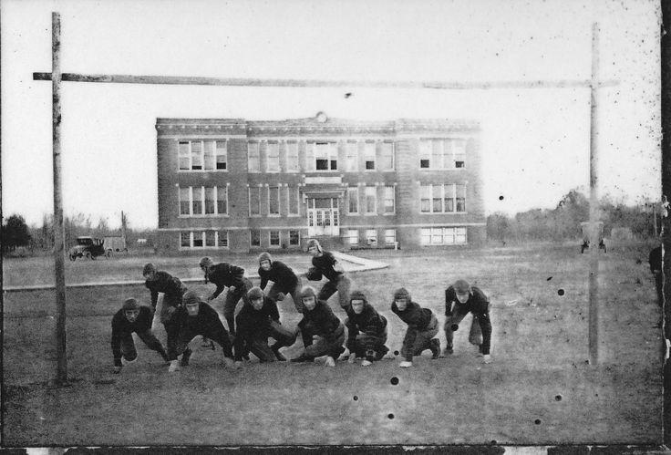 1924 Oak Grove Tigers Football Team In Front Of Old Oak Grove High School Historic Monroe