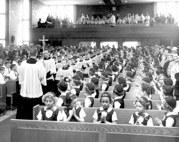 Catholic school. the uniforms, the beanies, the choir loft.