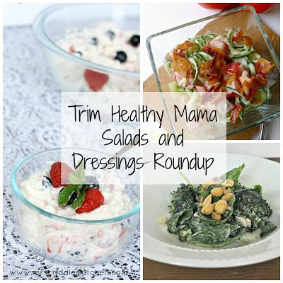 Darcie's Dishes: Trim Healthy Mama Salad and Dressings Roundup // A delicious collection of 38 THM compliant salads and dressings.