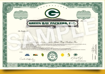 If someone wants to buy me a share of the Packers, they are certainly welcome to!