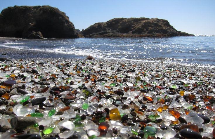 Glass beach California....I would be in heaven!