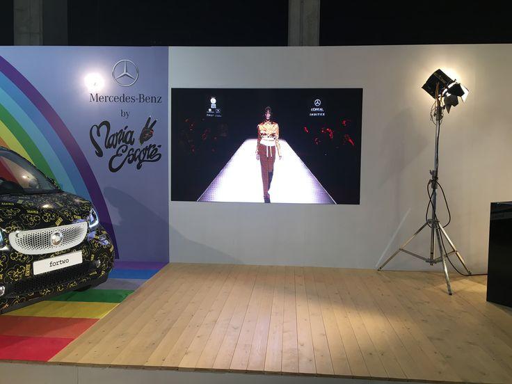 Digital Signage stand Smart María Escoté - Mercedes Fashion Week Madrid 2016 #digitialsignage #Mercedes #SmartMercedes #MaríaEscoté