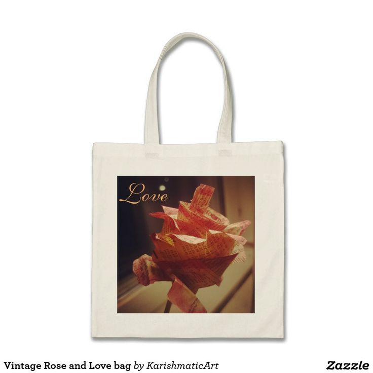 Vintage Rose and Love tote bag. A great partner for your fall fashion.