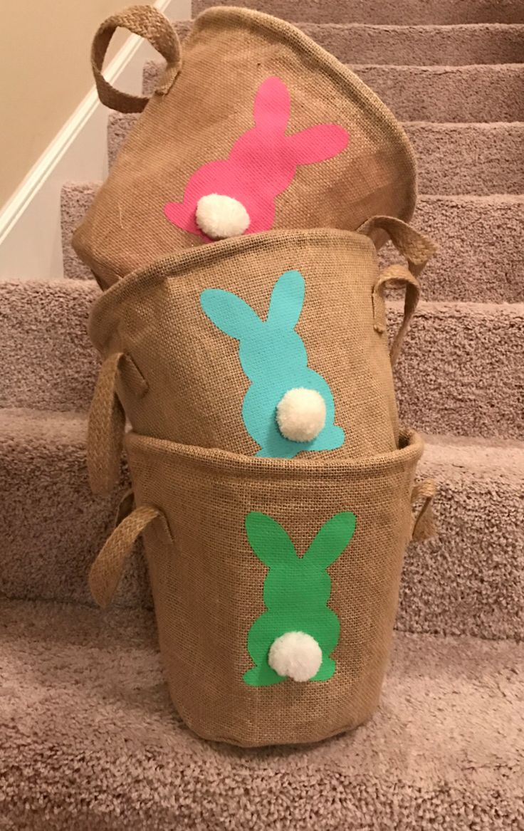 Burlap Easter Baskets Wholesale FREE SHIPPING US by PersonalyzeIt on Etsy https://www.etsy.com/listing/493888850/burlap-easter-baskets-wholesale-free