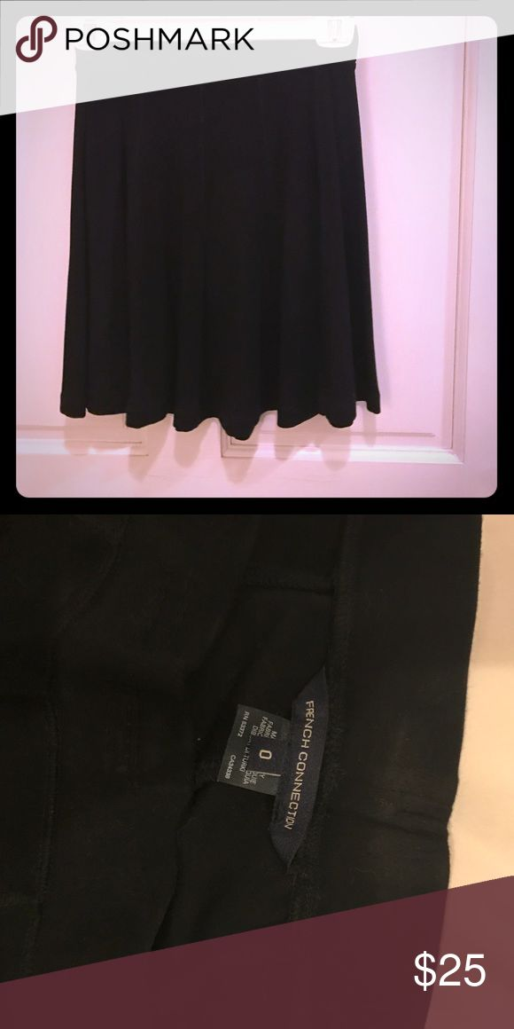 French Connection Jersey Knit Black Skirt Amazingly comfortable black, flowy skirt from French Connection! Only wore once. Great for the office or any occasion! French Connection Skirts Midi