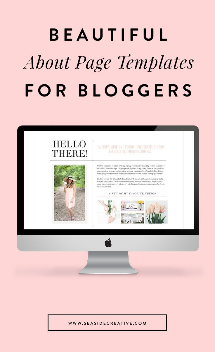 Beautiful About Page Templates for Bloggers! Easy to customize and add personality to your website.