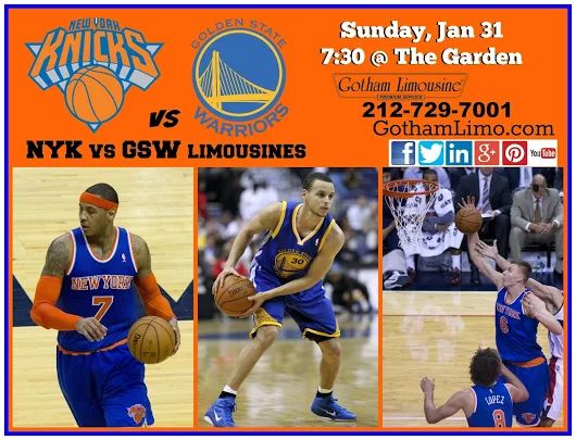 Knicks vs Warriors at The Garden. Limousines by Gotham Limo.