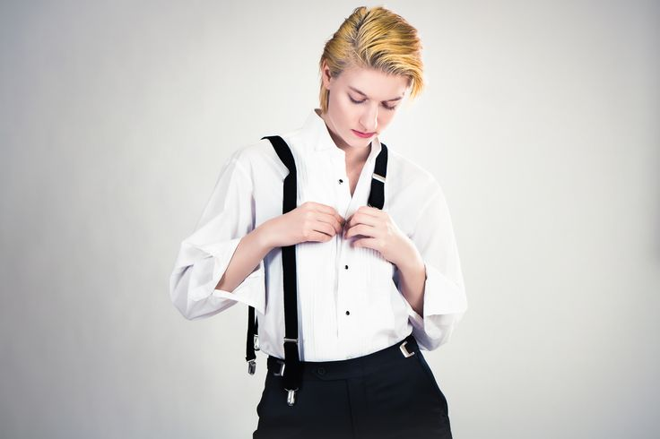 Woman in a tux