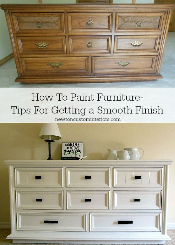 How to paint furniture ... tips for getting a smooth finish from newtoncustominteriors.com: