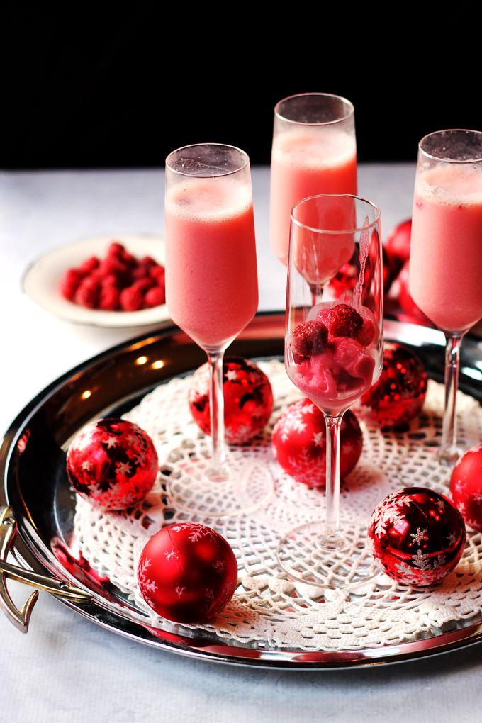 New Years Toast – Raspberry Cream Mimosa | http://cookswithcocktails.com/new-years-toast-raspberry-cream-mimosa/