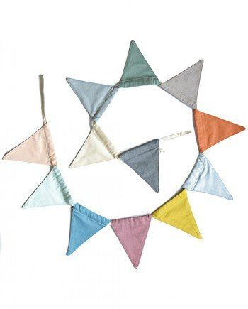 Fabric Bunting FABELAB. Multi colour earthy rich tones - fabric bunting   https://www.claudeandco.co.uk/collections/nursery-wall/products/hanging-garland-multi-colour