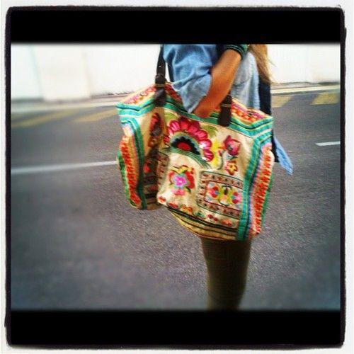 Love my indiBag … Starmela on @marlowmarket #handmade #marlowmarket #summer #bag #indian #colorful #neon #embroidered #beach #fashion #streetstyle - @melissa_marlow   Webstagram