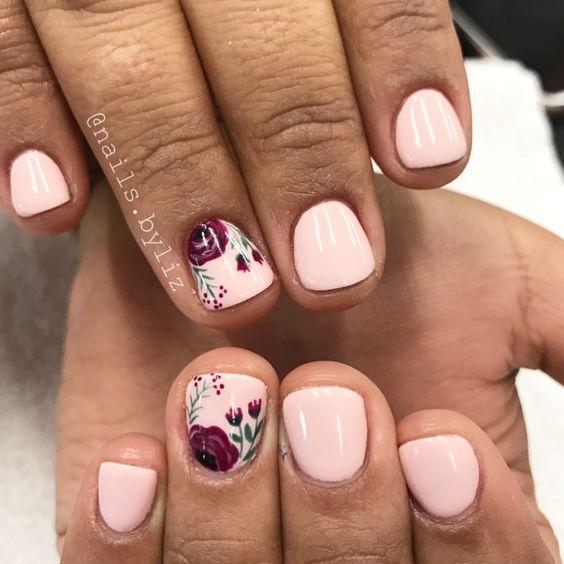 "Liz Henson (Nails Brawler.byliz) on Instagram: ""Simple fall florals . . . . #n…"