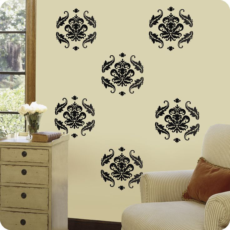 Decorative Wall Decals | Heres Damask Wall Decals For Home Decor Part 49