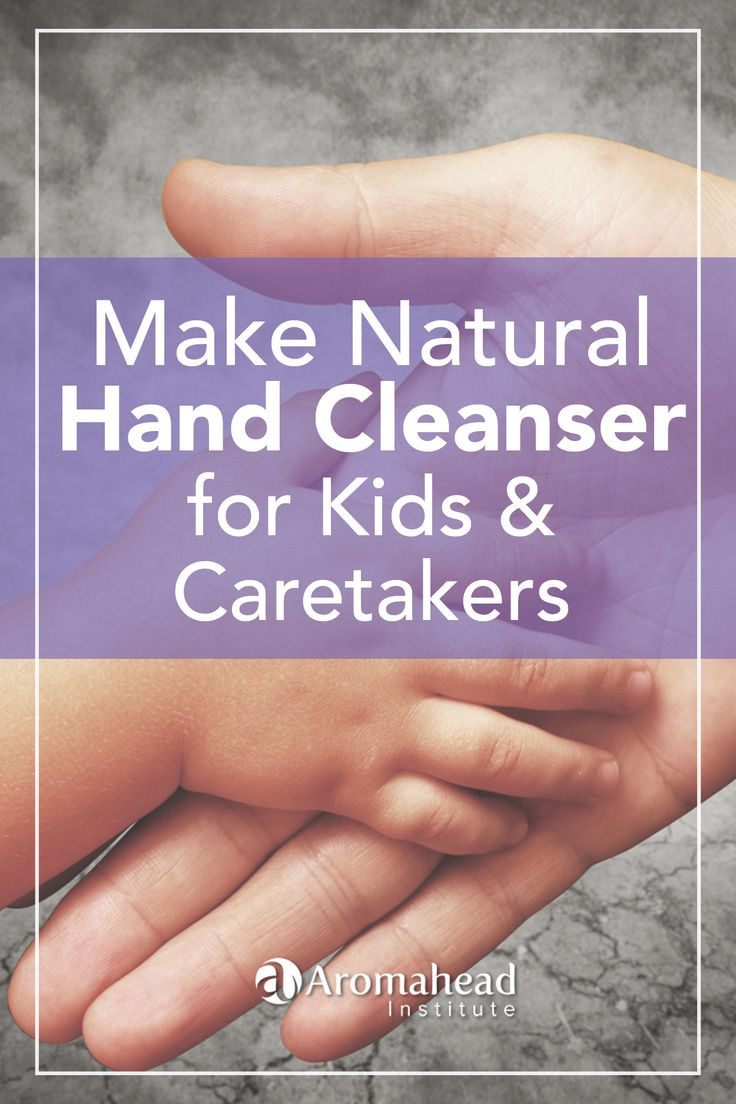 Make natural hand cleansing gel that won't dry out your skin. It's safe for kids over five, and for caretakers. It has a bright, warm citrus note that kids love!