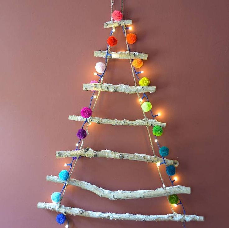 Great space saving wall hanging snowy rope
