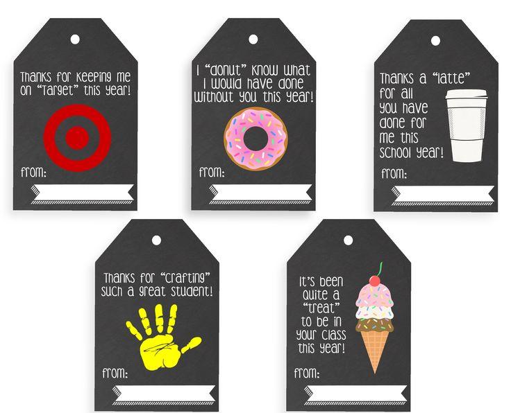 Free printable teacher gift tags | Teacher appreciation week ideas | Teacher gifts | Free Printable Gift tags | GinaKirk.com @ginaekirk