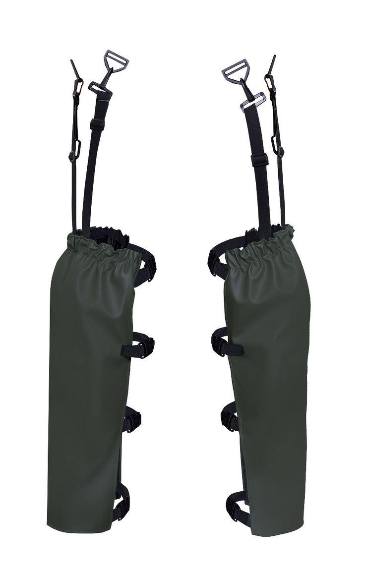 NOGAWICE Model: 508 Nogawice wodoochronne z wkładkami na nakolanniki, mocowane do paska za pomocą regulowanych zapięć. Model produkowany z wodoochronnej, wytrzymałej tkaniny Plavitex Heavy Duty. Produkt przeznaczony w szczególności do prac ogrodowych oraz przy zbiorach warzyw i owoców. Technika obustronnego zgrzewania zwiększa wytrzymałość szwów.