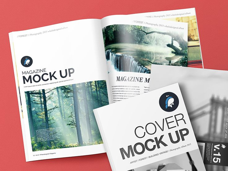 Free Mockup – Magazine with Cover and Back Cover by madefordesigners