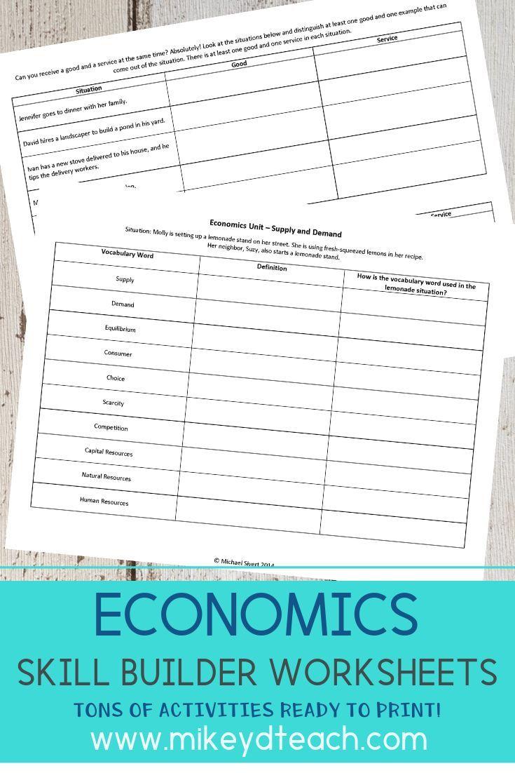 Economics Activity Pack Print Digital Distance Learning Economics Lessons Economics Middle Schoolers