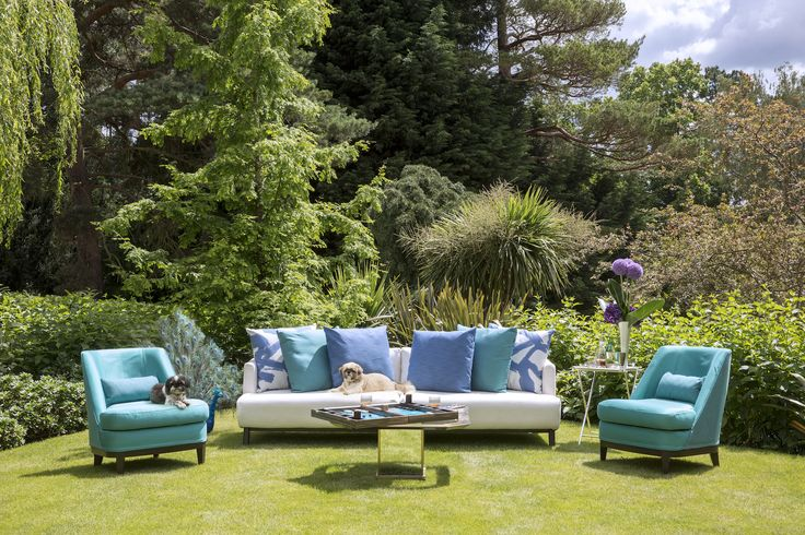 Coco Wolf outdoor furniture with Perennials fabrics