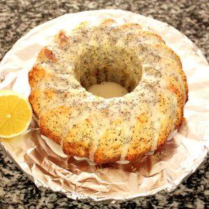 Luftiger Zitrone-Mohn-Gugelhupf | teig reicht für kleine Form & ein grooßes Weckglas