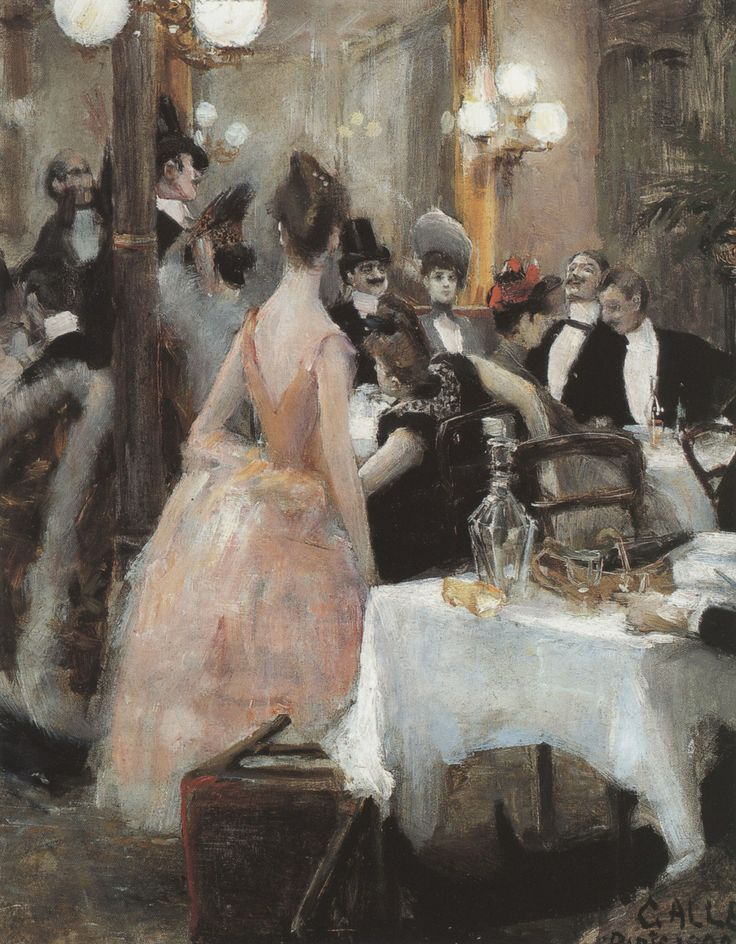 Gallen-Kallela, Aksel - Nach dem Maskenball. 1888