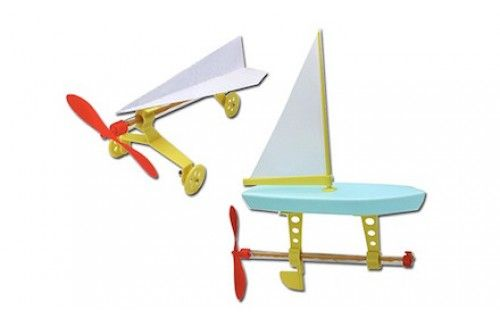 Rubber Band Powered Propeller Engine