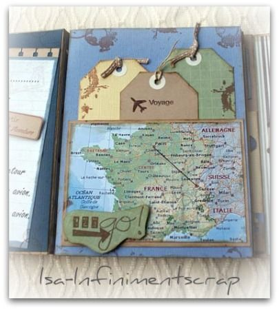 Tuto scrapbooking: Le carnet de voyage  Planète créa