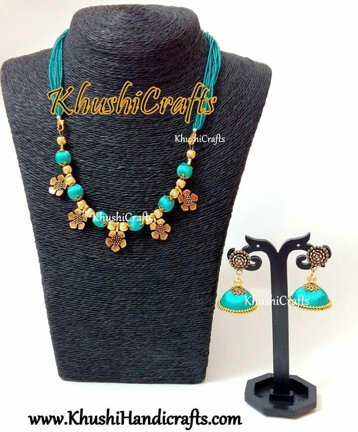 Trendy designer silk thread jewellery!