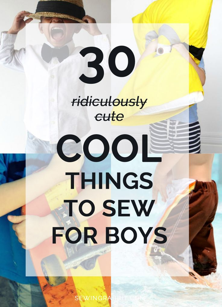 Because the boys need handmade love too!!! 30 cool things to sew for boys...if you are so inclined :)