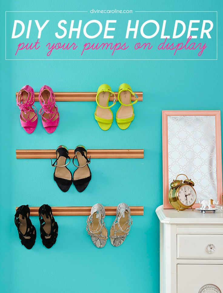 Looking for a fun DIY project? Try showcasing your best shoes with this DIY shoe