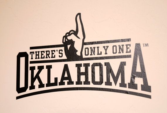 There's Only One  Wall Decal  University of Oklahoma by VinylMill, $14.99