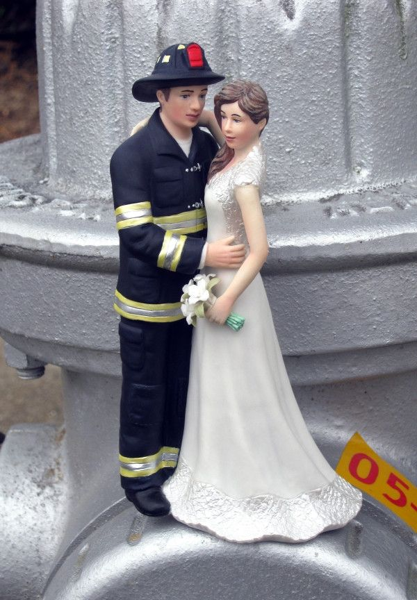 Beautiful Detail!  Check out this Firefighter Cake Topper - by Magical Day