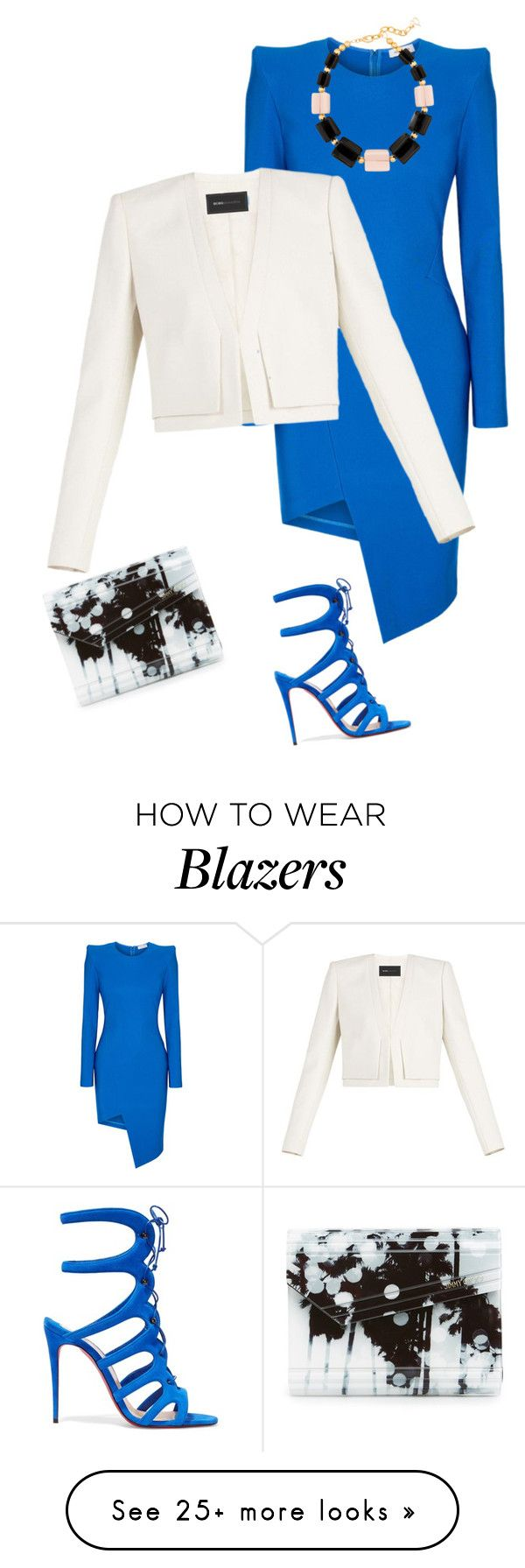 """outfit 7325"" by natalyag on Polyvore featuring Thierry Mugler, Christian Louboutin, BCBGMAXAZRIA, Jimmy Choo and DIANA BROUSSARD"