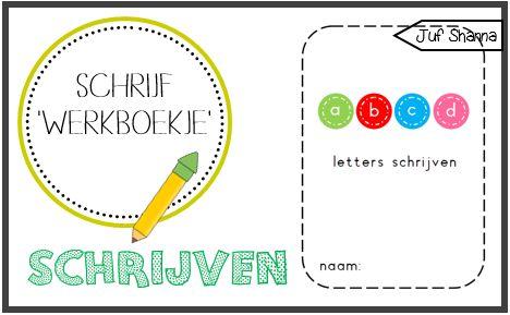Juf Shanna: Letters schrijven ('werkboekje')