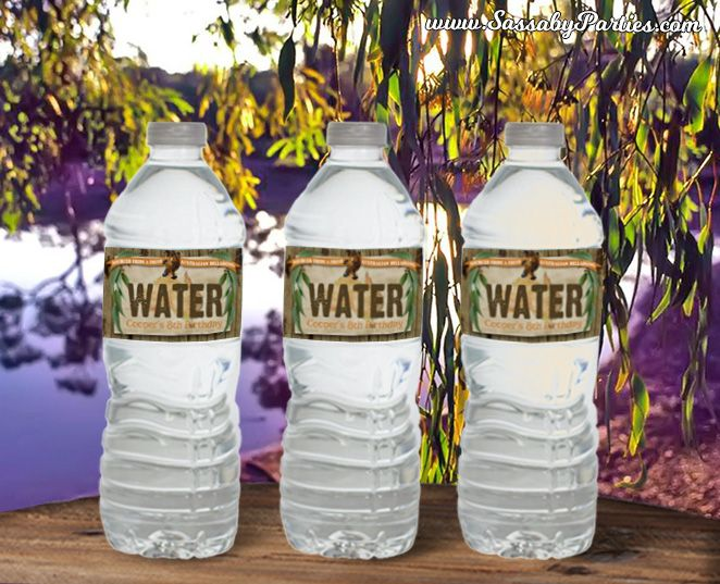 It's a set of Australian Animals Water Bottle Labels to decorate to your Party that you can Edit & Print yourself!