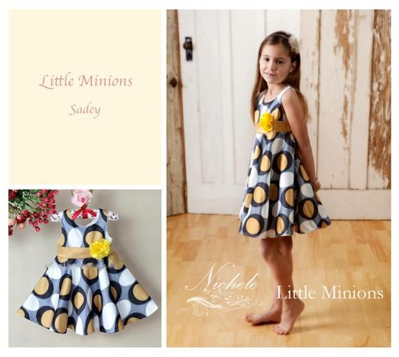 Little Minions' Sadey style dress - 12month to 5years | Available on Diggit $30