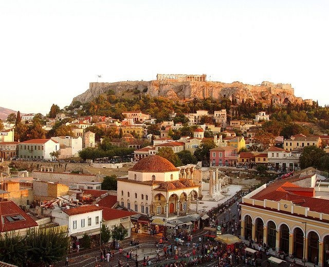 Overlooking Monastiraki Sq. & view of the Acropolis, Athens