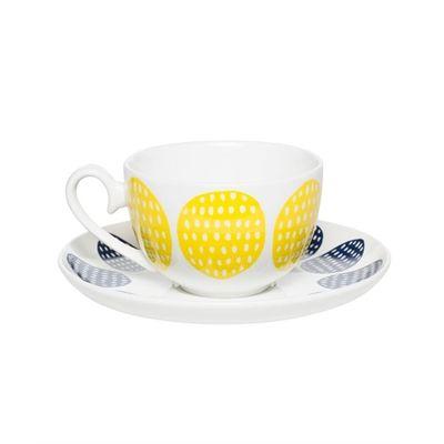 We Love this Milk & Sugar Harley Teacup Yellow/Navy - Milk & Sugar