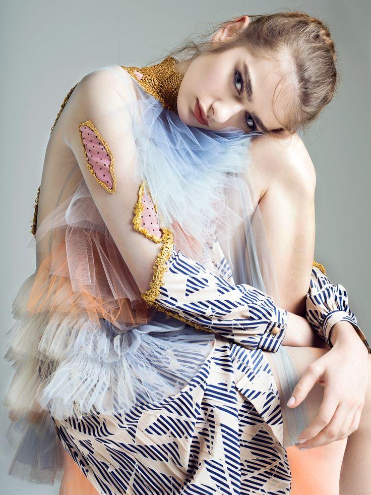 L'Officiel Ukraine April 2017 Liza Martynchik by Anna Zesiger - Fashion Editorials