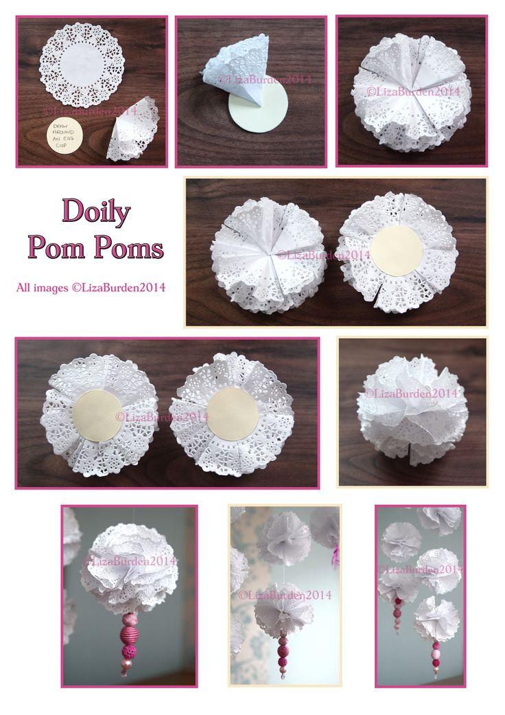 Doily Pom Poms