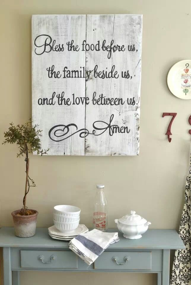 14 best blue kitchens images on pinterest kitchen for Fun sayings for dining room wall art