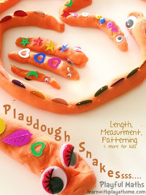 Length, Measurement & Patterning with Playdough Snakes. Hands-on, Playful Maths for kids.