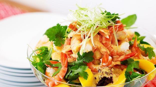 Prawn and mango salad, prawn recipe, brought to you by Australian Women's Weekly
